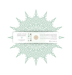 ethnic circular greeting gentlecards and vector image vector image
