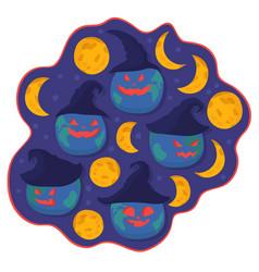 Evil earths set smiling vector