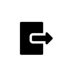 exit door icon vector image