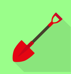 fire fighter shovel icon flat style vector image