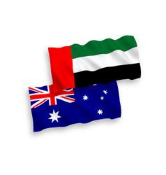 Flags australia and united arab emirates vector
