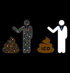 Flare mesh 2d businessman show ico shit icon with vector