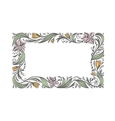Floral Flower Decorative Frame vector