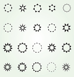 Geometric star logo template set vector image