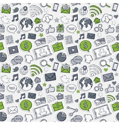 Green Sticker mobile apps vector image