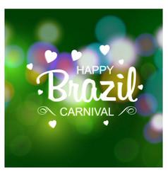 Happy brazilian carnival day white creative vector