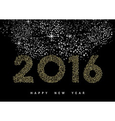 Happy new year 2016 gold deco monogram ornament vector image