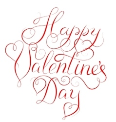 Happy Valentines Day - calligraphy lettering vector image