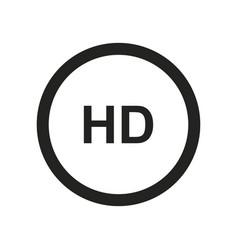 hd icon vector image