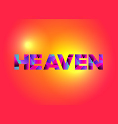 Heaven theme word art vector