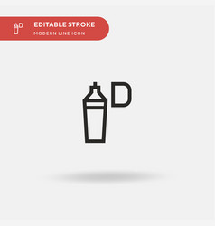 Highlighter simple icon vector