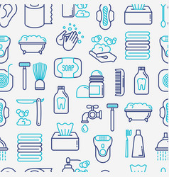Hygiene concept seamless pattern vector