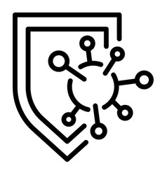 Immune shield protection icon outline style vector