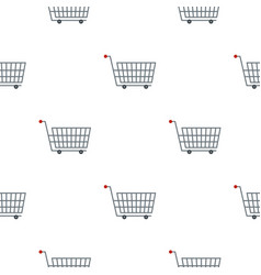 Large metal shopping trolley pattern flat vector