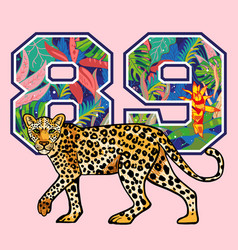 leopard print with vector image