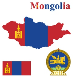 Mongolian Flag vector