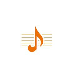 music note line design logo vector image