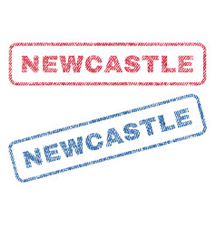 Newcastle textile stamps vector