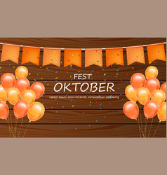 October fest welcome poster realistic vector