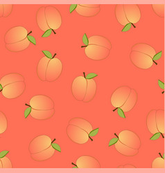 peach seamless on orange background vector image