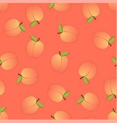 Peach seamless on orange background vector