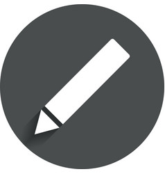 Pencil sign icon Edit content button vector image