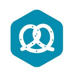 Pretzel icon simple style vector