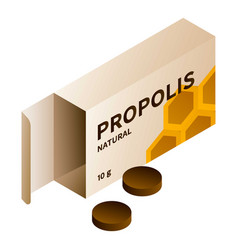 Propolis pill icon isometric style vector