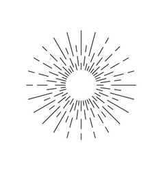 Rays sparkle vector
