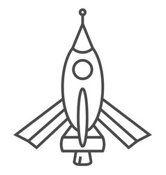 rocket icon isolated sign vector image