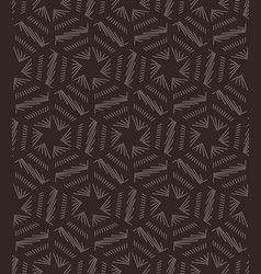seamless stars lined geometric pattern vector image