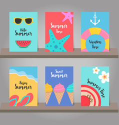 Set of summer background for template design vector