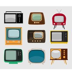 set vintage tvs vector image