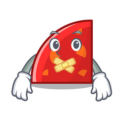 Silent quadrant mascot cartoon style vector