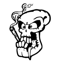 skull wit joint vector image