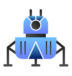 Space landing module flat icon cosmos color icons vector