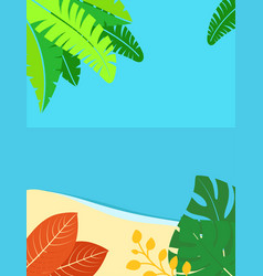 summer landscape background with copy space for vector image
