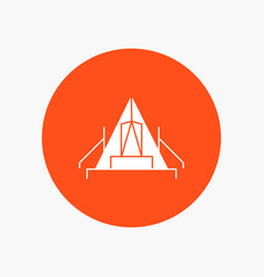 Tent camping camp campsite outdoor white glyph vector