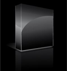 three dimensional box vector image