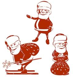 Three Santa Claus vector