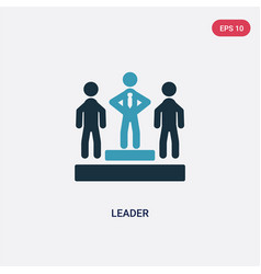 two color leader icon from strategy concept vector image