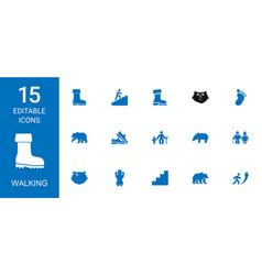 Walking icons vector