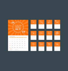 Wall calendar planner template for 2020 design vector