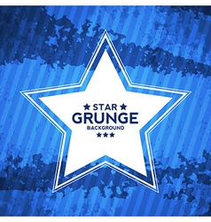 Abstract Grunge Textured Background with Star vector image vector image