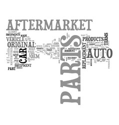 after market parts explained text word cloud vector image vector image
