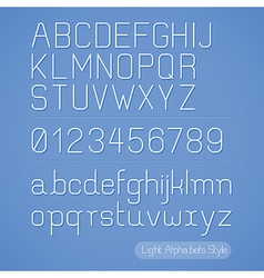 Alphabet line stripes style vector image vector image