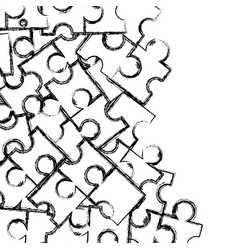 figure puzzle pieces game background design vector image vector image