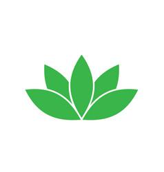 green lotus symbol spa and wellness theme design vector image