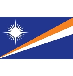Marshall Islands flag image vector image vector image