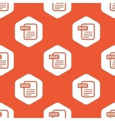 Orange hexagon DOC file pattern vector image